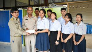 สถาบันฯ มอบเงินบริจาคเป็นทุนกิจการนักเรียนโรงเรียนศรีสวัสดิ์พิทยาคม กาญจนบุรี