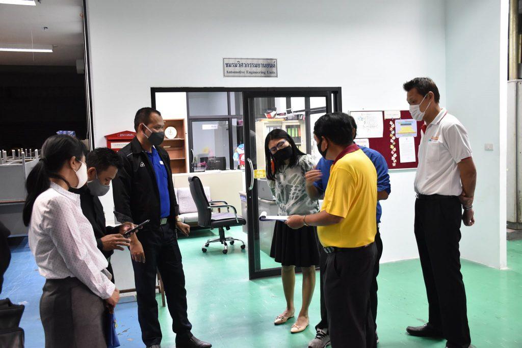 สถาบันพัฒนาฝีมือแรงงาน 13 กรุงเทพมหานครเข้าตรวจสอบศูนย์ทดสอบมาตรฐานฝีมือแรงงาน สถาบันเทคโนโลยีปทุมวัน