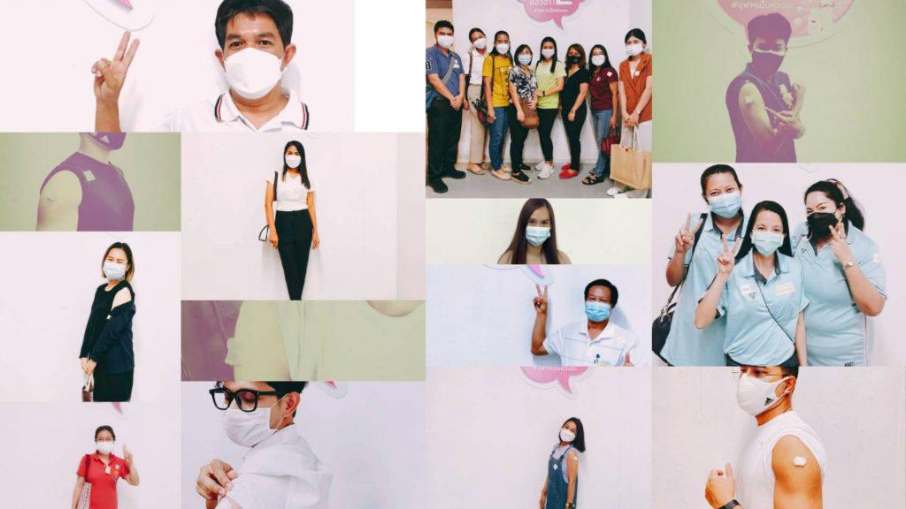 สทป.รณรงค์ให้ชาวปทุมวันรับวัคซีนต้านโควิด